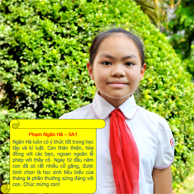 Hs tieu bieu t9 13 Student of the month – September