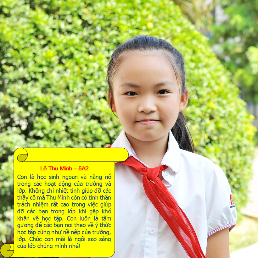 Hs tieu bieu t9 14 Student of the month – September