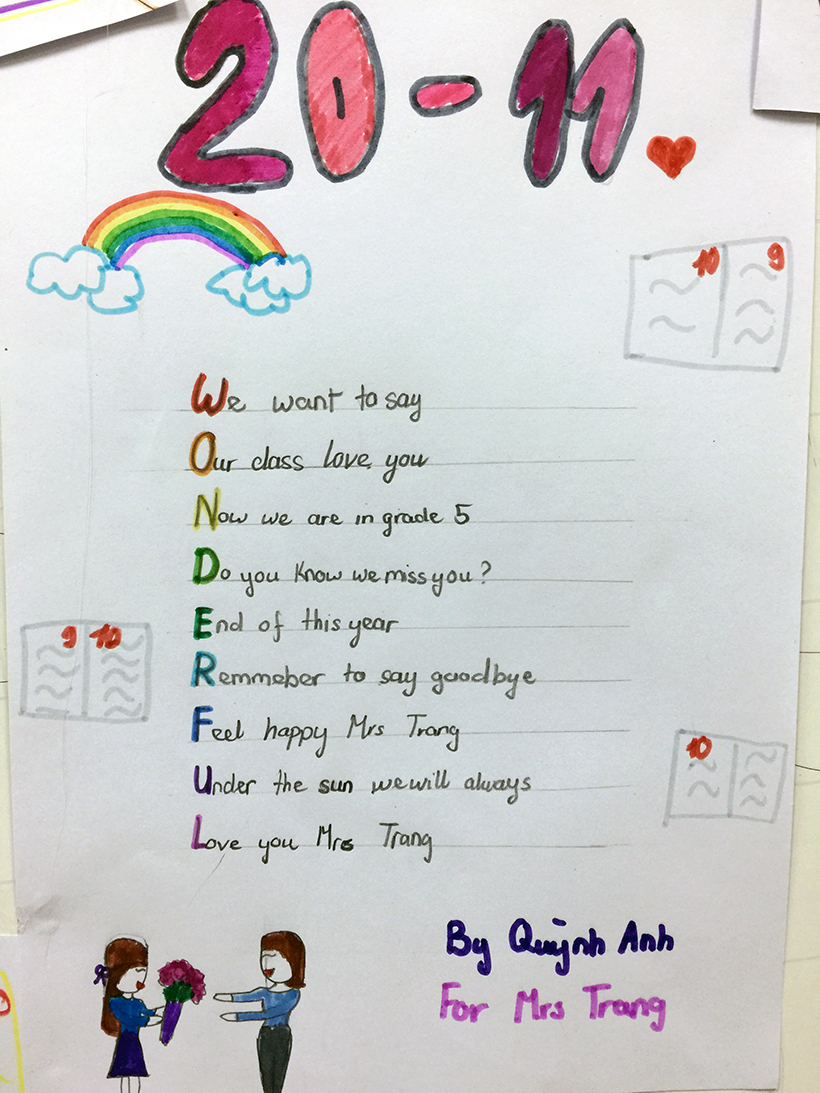 Lovely words for our teachers 6 Lovely words for our teacher