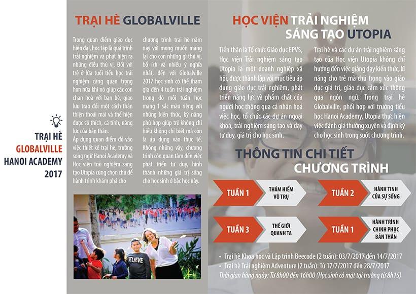 Chương trình hè Tiểu học 2017 – Trại hè Globalville Hanoi Academy