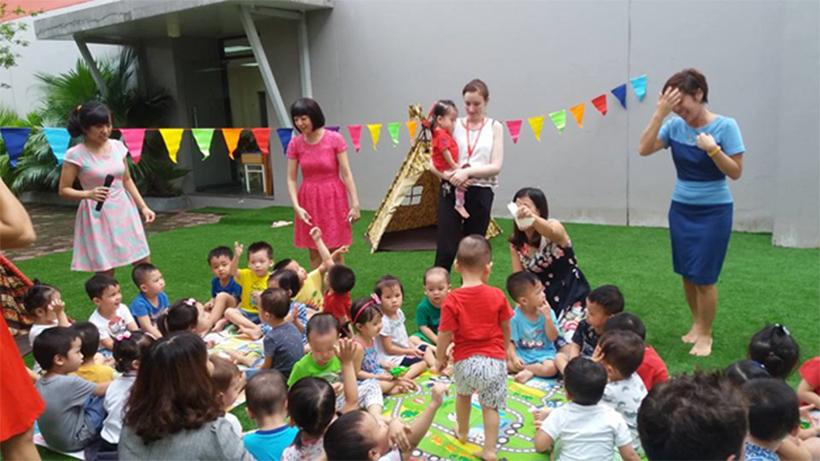 Be chao don ngay thanh lap truong 15 Bé vui chào đón ngày thành lập Trường Song Ngữ Quốc tế Hanoi Academy