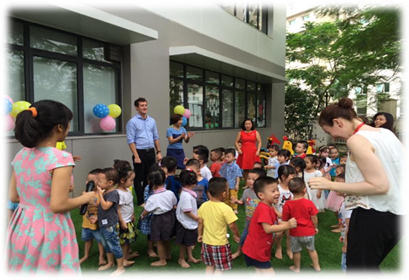 Be chao don ngay thanh lap truong 3 Bé vui chào đón ngày thành lập Trường Song Ngữ Quốc tế Hanoi Academy