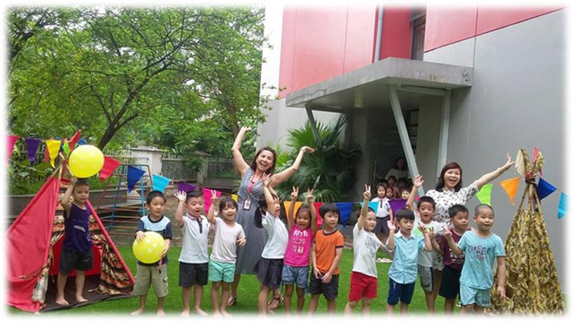Be chao don ngay thanh lap truong 6 Bé vui chào đón ngày thành lập Trường Song Ngữ Quốc tế Hanoi Academy
