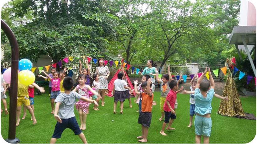 Be chao don ngay thanh lap truong 7 Bé vui chào đón ngày thành lập Trường Song Ngữ Quốc tế Hanoi Academy
