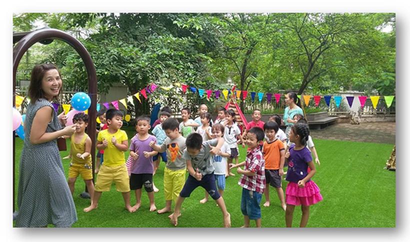 Be chao don ngay thanh lap truong 8 Bé vui chào đón ngày thành lập Trường Song Ngữ Quốc tế Hanoi Academy