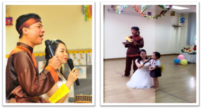 """Vui hoi trang ram cua be MN 05 """"Vui hội trăng rằm"""" của các bé trường Mầm non Hanoi Academy"""