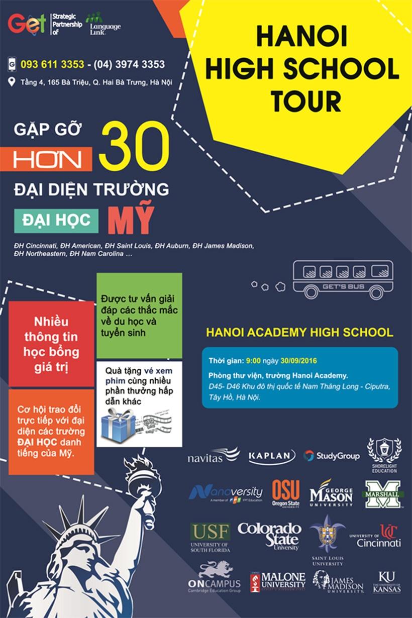 hanoi high school tour Gặp gỡ hơn 30 đại diện trường Đại học đến từ Úc, Mỹ