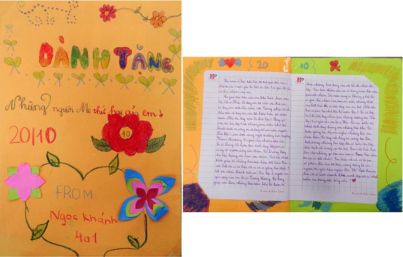 """1 Do Ninh Ngoc Khanh 4A1 Trường Tiểu học Hanoi Academy với chuyên đề sinh hoạt tập thể """"Mẹ và Cô – Hai người mẹ hiền"""""""