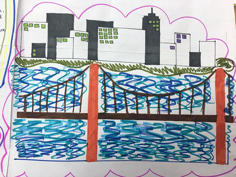 """7A1 voi du an nhung cay cau the ky 3 Học sinh 7A1 với dự án """"thầu"""" những cây cầu thế kỷ"""