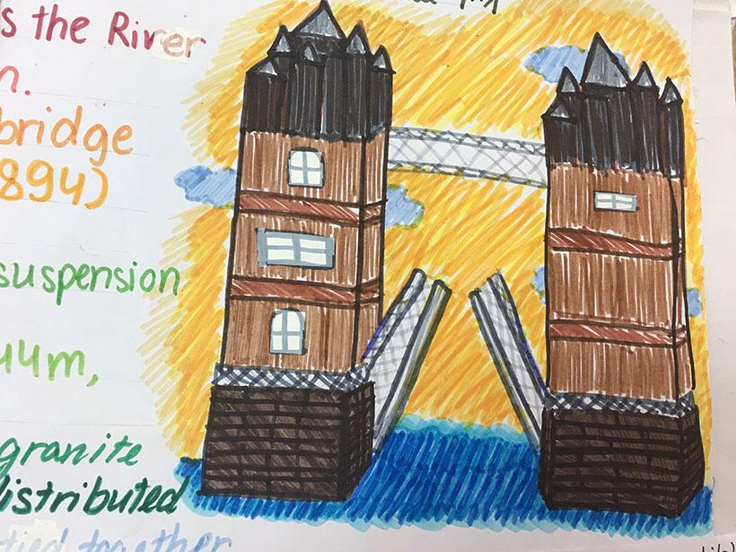 """7A1 voi du an nhung cay cau the ky 6 Học sinh 7A1 với dự án """"thầu"""" những cây cầu thế kỷ"""