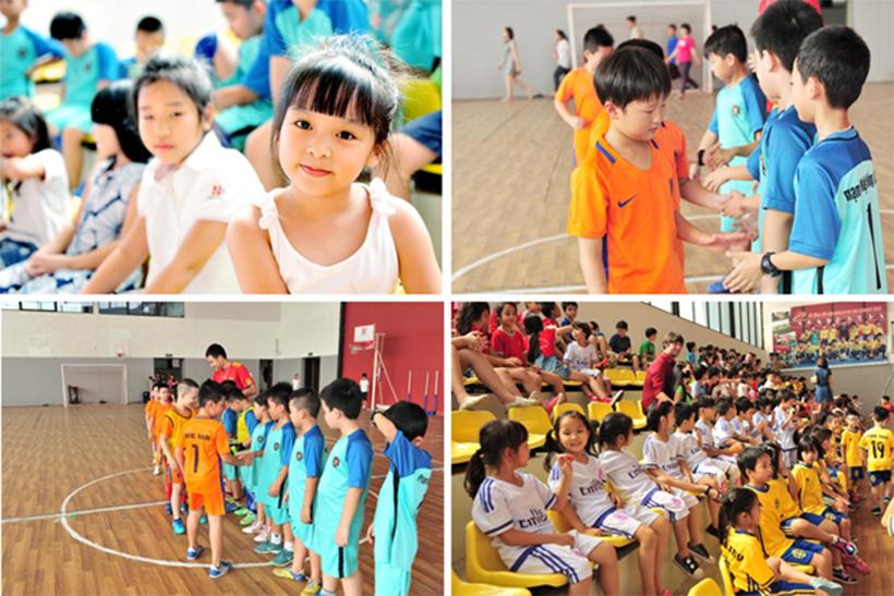 """CK trao giao tt vua 4 Chung kết và trao giải môn """"Thể thao Vua"""" trường Tiểu học Hanoi Academy 2016 – 2017"""