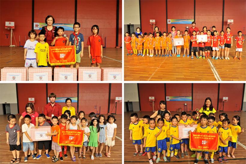 """CK trao giao tt vua 6 Chung kết và trao giải môn """"Thể thao Vua"""" trường Tiểu học Hanoi Academy 2016 – 2017"""