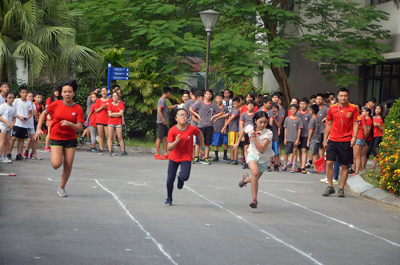 DK lan VI THCS 1 Giải điền kinh lần thứ VI trường THCS Hanoi Academy