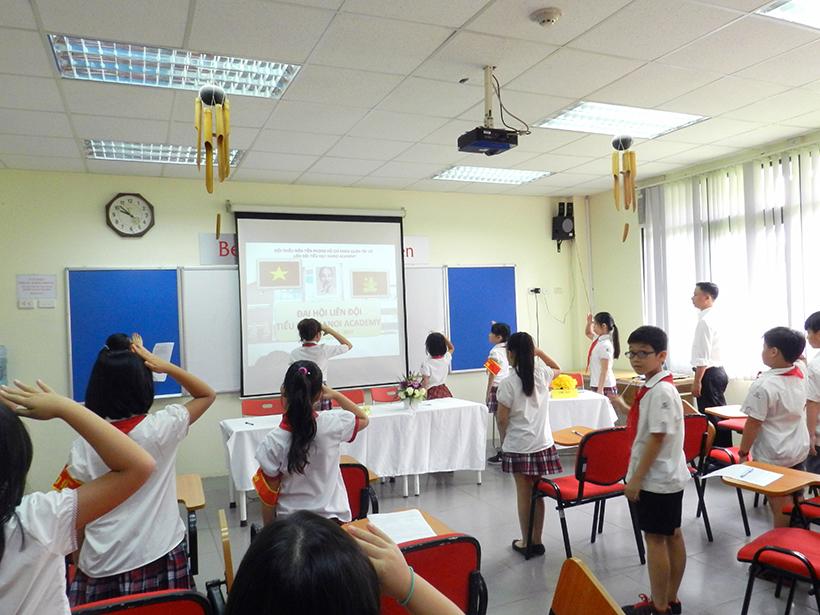 Dai hoi lien doi TH 16-17 1 Đại hội Liên đội Tiểu học Hanoi Academy năm học 2016 – 2017