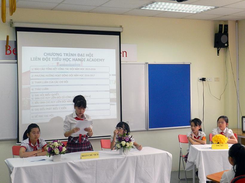 Dai hoi lien doi TH 16-17 2 Đại hội Liên đội Tiểu học Hanoi Academy năm học 2016 – 2017
