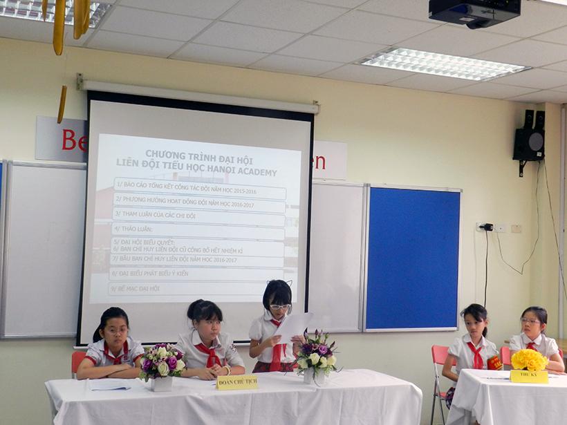Dai hoi lien doi TH 16-17 3 Đại hội Liên đội Tiểu học Hanoi Academy năm học 2016 – 2017