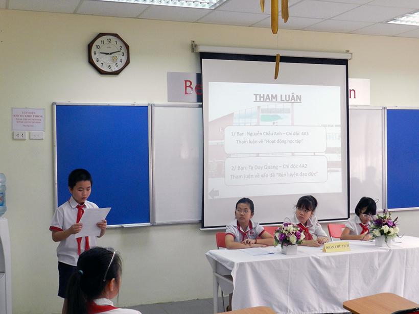 Dai hoi lien doi TH 16-17 4 Đại hội Liên đội Tiểu học Hanoi Academy năm học 2016 – 2017