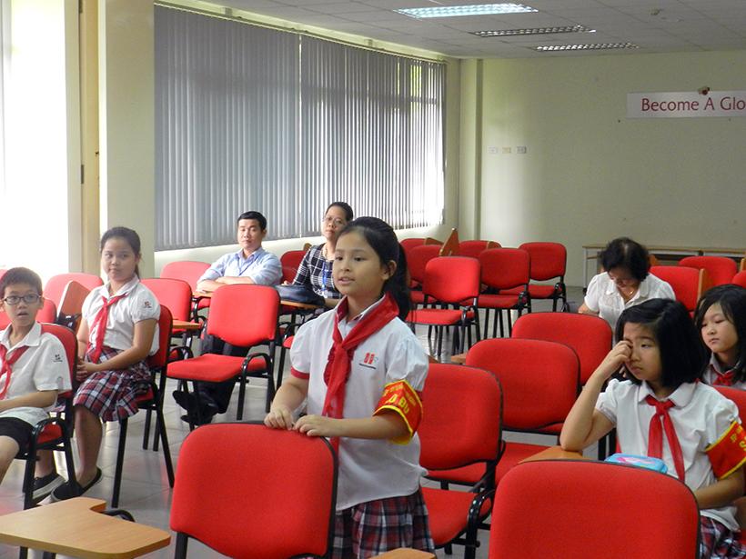 Dai hoi lien doi TH 16-17 5 Đại hội Liên đội Tiểu học Hanoi Academy năm học 2016 – 2017