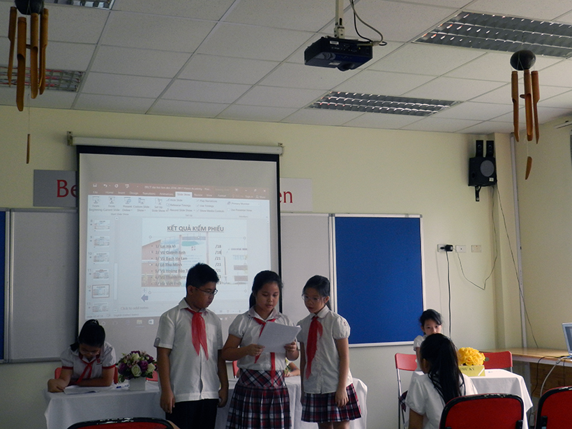 Dai hoi lien doi TH 16-17 6 Đại hội Liên đội Tiểu học Hanoi Academy năm học 2016 – 2017