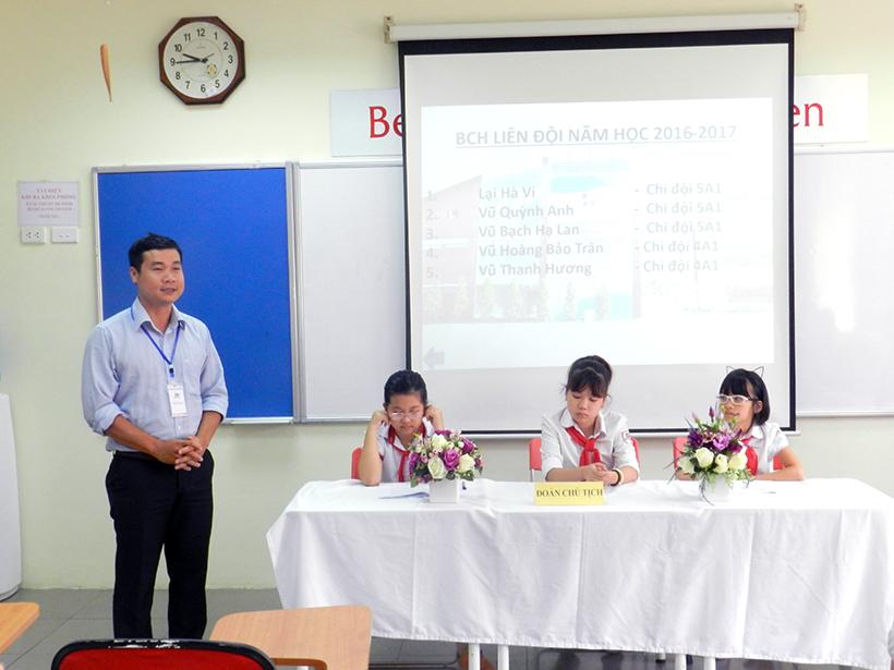Dai hoi lien doi TH 16-17 8 Đại hội Liên đội Tiểu học Hanoi Academy năm học 2016 – 2017