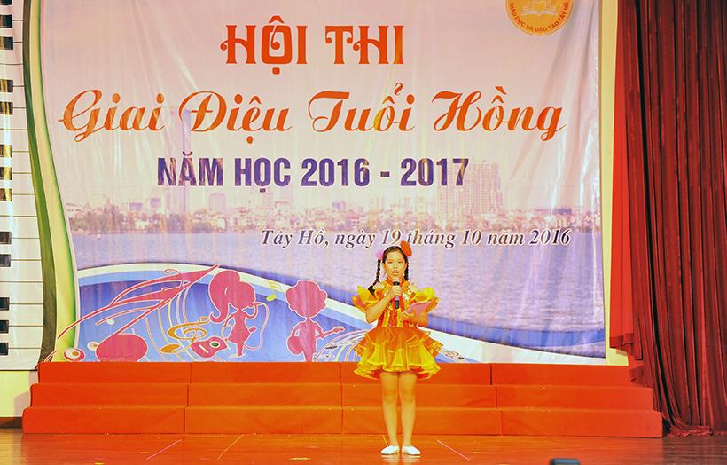 """Giai dieu tuoi hong 2 Trường Hanoi Academy với hội thi """"Giai điệu Tuổi Hồng"""" ngành GD&ĐT quận Tây Hồ năm học 2016 – 2017"""
