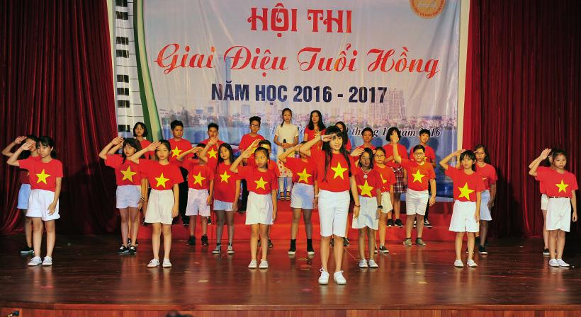 """Giai dieu tuoi hong 5 Trường Hanoi Academy với hội thi """"Giai điệu Tuổi Hồng"""" ngành GD&ĐT quận Tây Hồ năm học 2016 – 2017"""