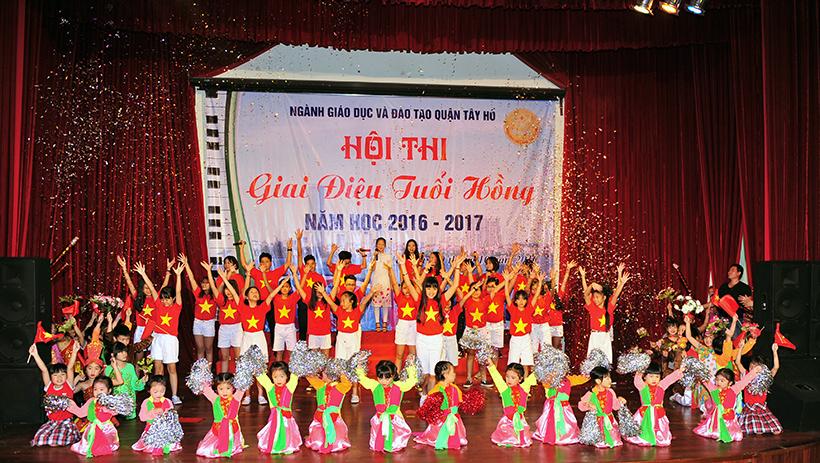 """Giai dieu tuoi hong 6 Trường Hanoi Academy với hội thi """"Giai điệu Tuổi Hồng"""" ngành GD&ĐT quận Tây Hồ năm học 2016 – 2017"""