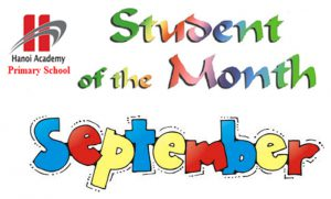 Student of the month – September