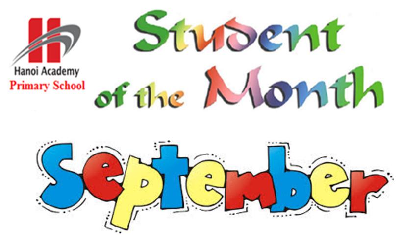 Học sinh tiêu biểu Student of the month – September