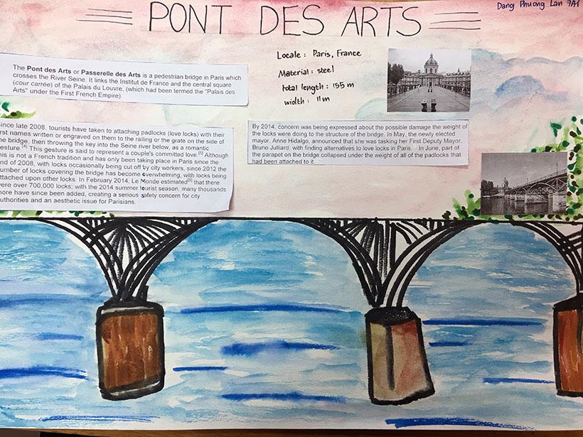 """Phuong Lan Học sinh 7A1 với dự án """"thầu"""" những cây cầu thế kỷ"""