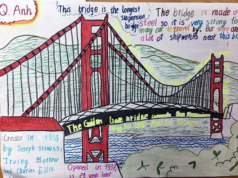 """Quang Anh Học sinh 7A1 với dự án """"thầu"""" những cây cầu thế kỷ"""
