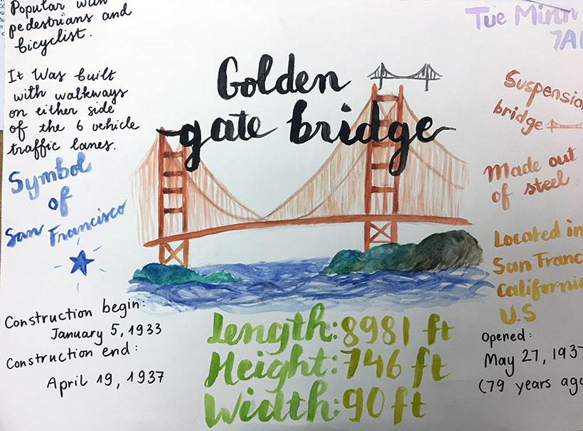 """Tue Minh Học sinh 7A1 với dự án """"thầu"""" những cây cầu thế kỷ"""