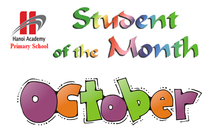 học sinh tiêu biểu Student of the month – October
