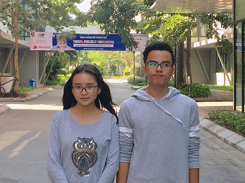 Chuc mung thi sinh 3 Chúc mừng thí sinh Hoàng Diệu Trang và Nguyễn Đức Anh lọt vào vòng Quốc gia cuộc thi Toefl Junior 2016