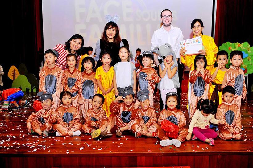 """Guong mat than quen vui nhon 16 Sân chơi """" Gương mặt thân quen vui nhộn"""" cho các bé Mầm non Hanoi Academy"""
