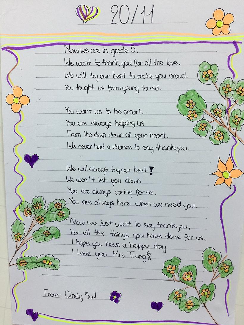 Lovely words for our teachers 4 Lovely words for our teacher