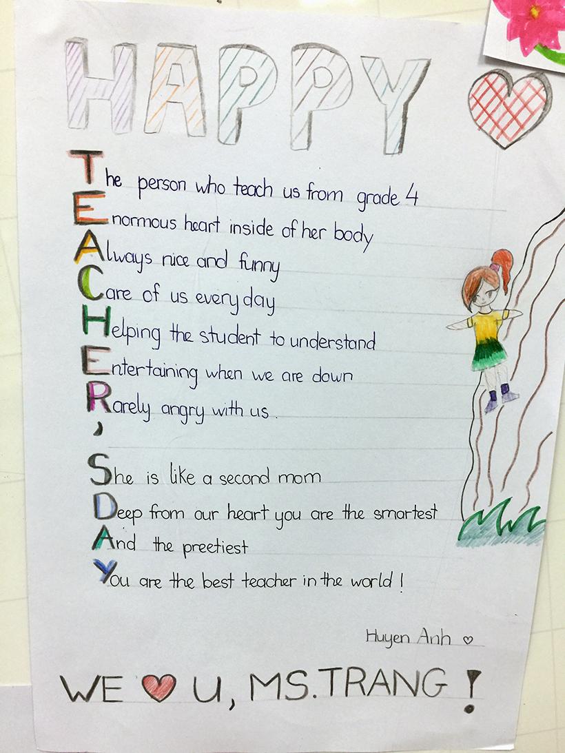 Lovely words for our teachers 5 Lovely words for our teacher