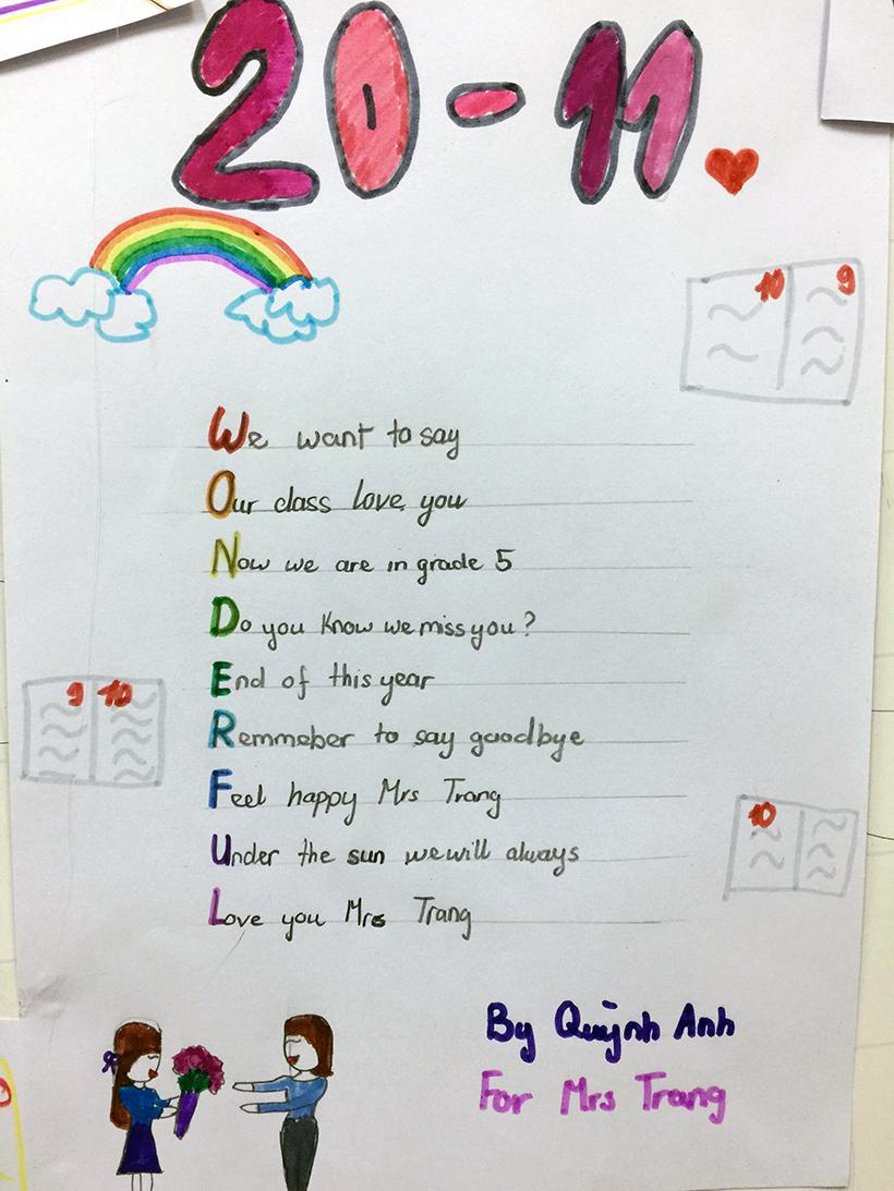 Lovely words for our teachers 6 Lovely words for our teacher