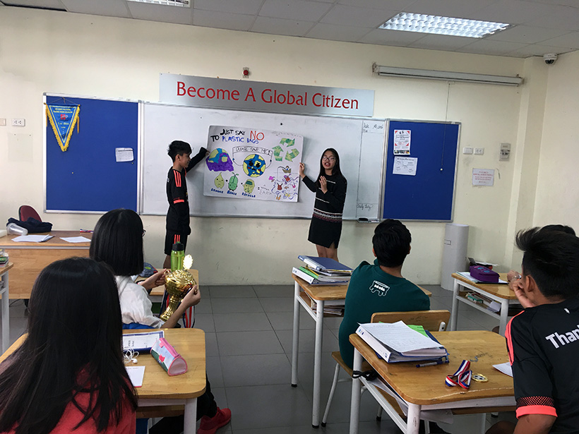 Van de toan cau 2 Vấn đề toàn cầu qua cách nhìn của học sinh trường THCS Hanoi Academy