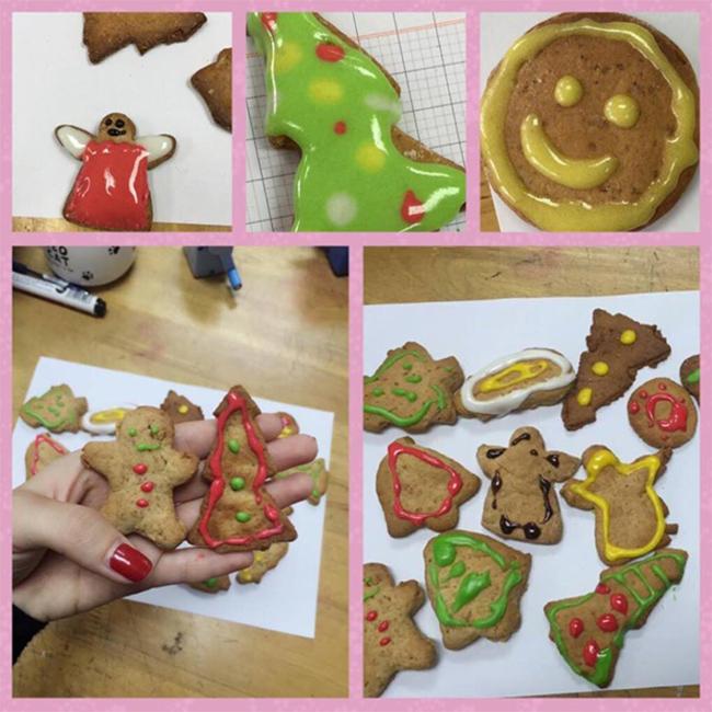Giang sinh am ap voi banh gung 11 Giáng sinh ấm áp với bánh quy gừng siêu kute