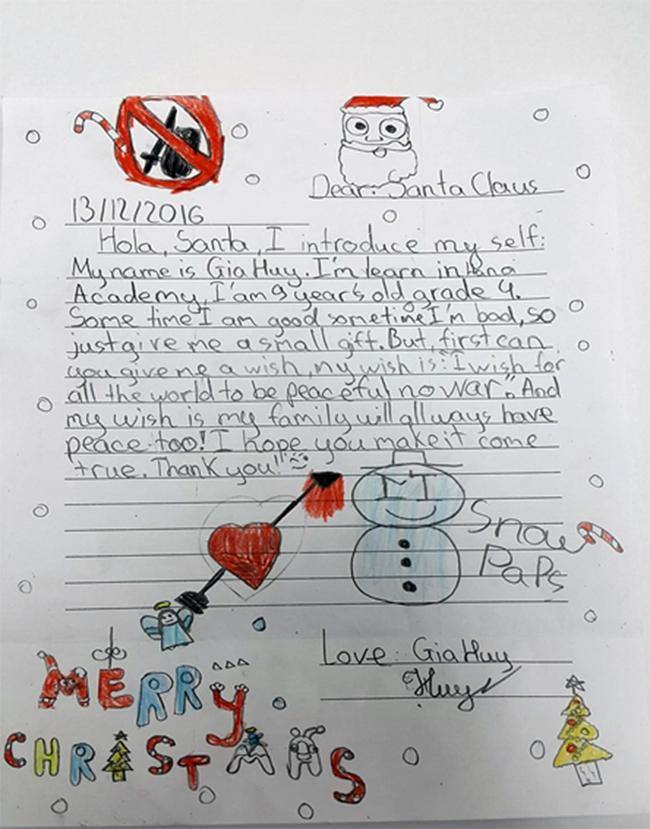 Thu gui ong gia Noel 9 Thư gửi ông già Noel
