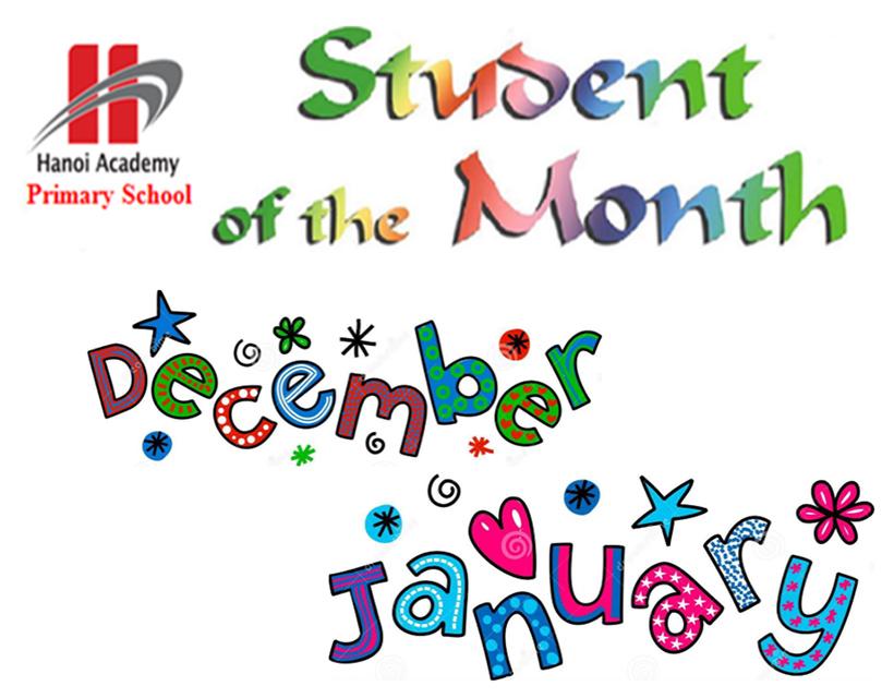 Học sinh tiêu biểu Student of the month – December, January