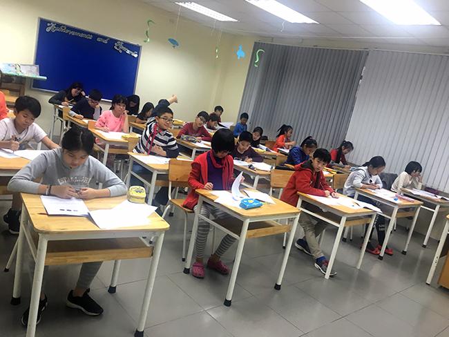 """IMAS 12 Học sinh Tiểu học trải nghiệm kì thi """"Đánh giá năng lực tư duy toán học Quốc tế – IMAS"""""""