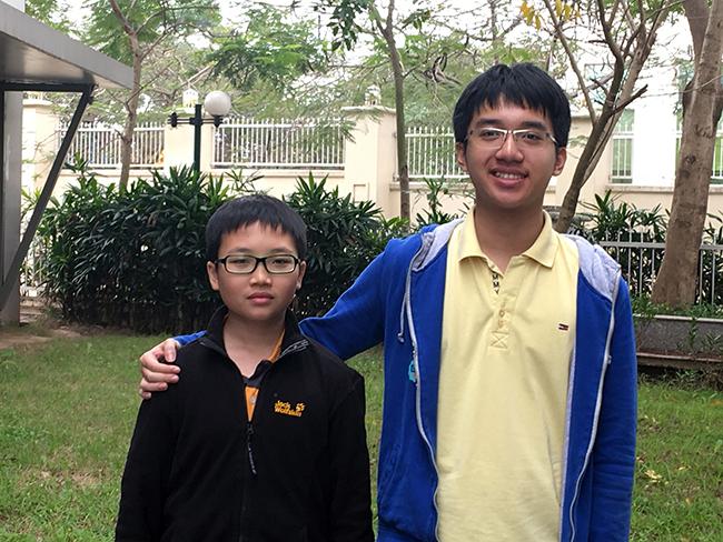 LONG+TRÍ Những cái tên nối dài bảng vàng thành tích trong cuộc thi IOE cấp Quận trường THCS Hanoi Academy