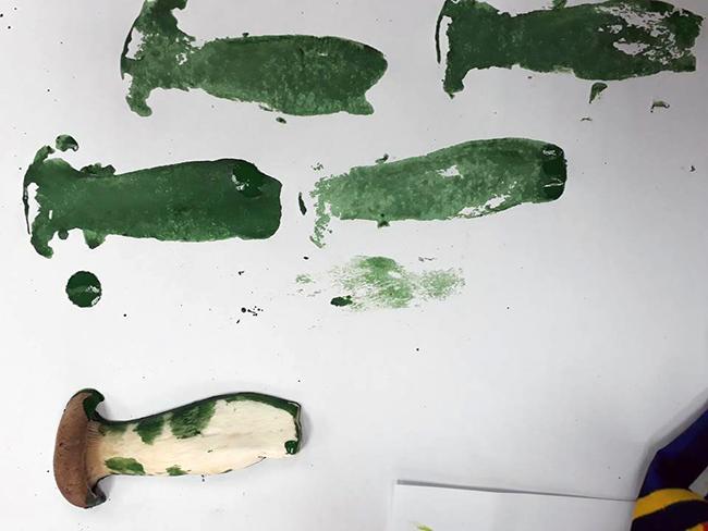 Cùng bé in màu tranh củ quả 19 Cùng bé in màu tranh củ quả