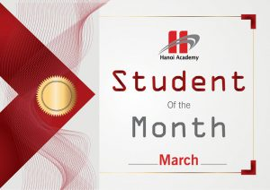 Student of the Month – March 2017