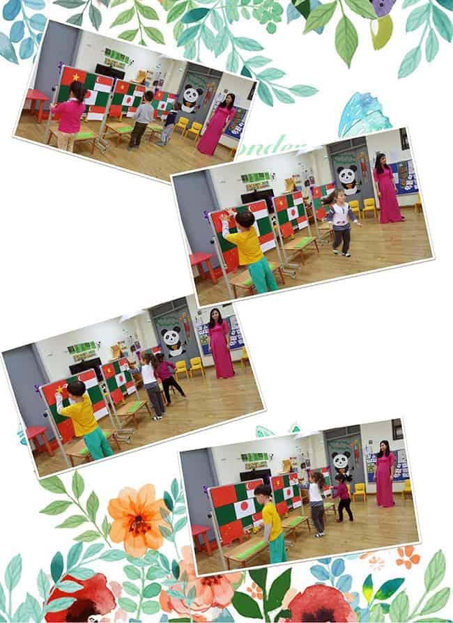 """Tìm hiểu cờ các quốc gia Bé Panda với tiết học """"Tìm hiểu cờ các quốc gia"""""""