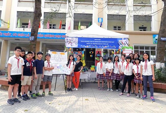 """Hanoi Academy với ngày hội """"Giao lưu học tập và trưng bày sản phẩm sáng tạo"""" của phòng Giáo dục quận Tây Hồ"""