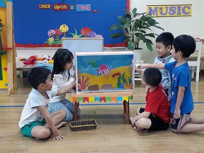 Trẻ Mầm non với kĩ năng kể chuyện sáng tạo Trẻ Mầm non với kĩ năng kể chuyện sáng tạo