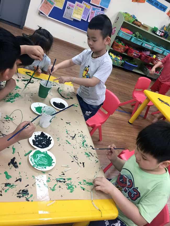 Học sinh độ tuổi tiền Tiểu học Hanoi Academy với không gian sáng tạo